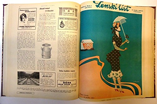 Zenski list za modu, zabavu i kucanstvo. Godina/Jg. 7 (1931), Heft 1-12. Komplett/Kompletan. (30er Jahre Mode Kostüm)
