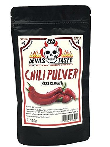 Chili Pulver - ultra scharf 150gr RED DEVILS TASTE (Red Chili-pulver)