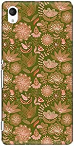 The Racoon Lean printed designer hard back mobile phone case cover for Sony Xperia M4 Aqua. (Green Beau)