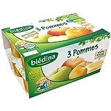 Blédina coupelles fruits 3 pommes 12 x 100 g dès 6 mois - ( Prix Unitaire ) - Envoi Rapide Et Soignée