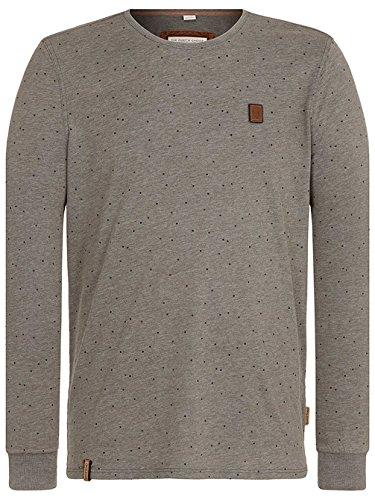 Naketano Male Sweatshirt Stuck On Pussy III heritage dark grey melang