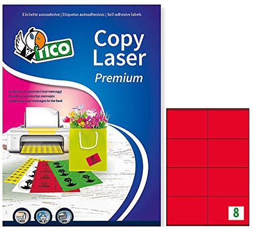 Tico LP4CR-10572 Las etiquetas de colores opacos, FF 70, 105 x 72, Rojo