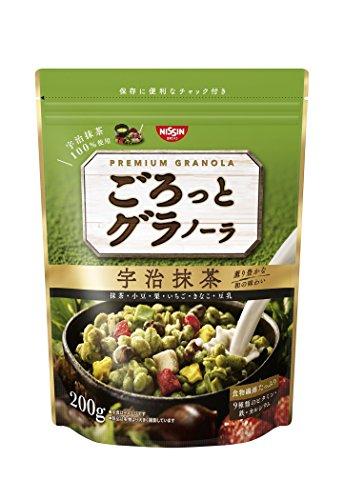 Nisshin - Chunky Japanese Granola with Kyoto Uji Matcha Green tea Flavor 200g (7.05oz) : Japan Imported [Standard ship by SAL: NO Tracking & Insurance]