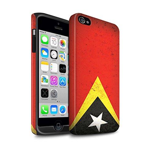 STUFF4 Matte Harten Stoßfest Hülle / Case für Apple iPhone 6 / Georgien/Georgisch Muster / Asien Flagge Kollektion Timor-Leste/Timorese
