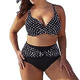 Juleya Damen Retro Tupfen Badeanzug Bikini Set Swimwear Beachwear große größen Tankini Push Up Bikini + Hotpants Swimsuit Beachwear S M L XL XXL XXXL XXXXL XXXXXL