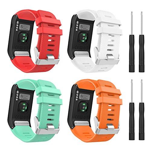 MoKo Correa para Garmin Vivoactive HR Reloj, [4 Pack] Deportiva Pulsera de Suave Silicona, Banda para Garmin Vivoactive HR Sports GPS Smart Watch con Herramienta para Instalación, B