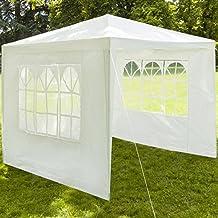 ProBache - Chapiteau 3x3 m+3 murs tente tonnelle de réception blanche