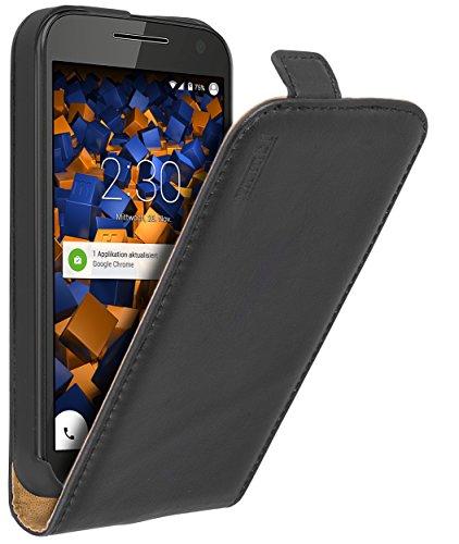 mumbi PREMIUM Leder Flip Case für Motorola Moto G (3. Generation) Tasche