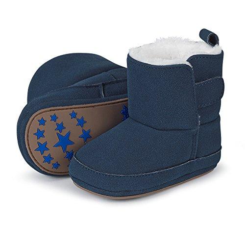 Sterntaler Jungen Baby Stiefel mit Klettverschluss, Farbe: Marine, Größe: 15/16, Alter: 4-6 Monate, Artikel-Nr.: 5301711