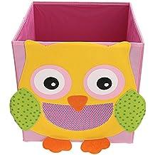 Plegado Niños Juguetes, Ballery Caja de almacenaje Animal Caja No Tejidos Organizador - Mono