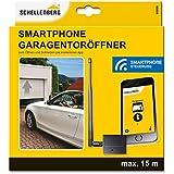 Schellenberg 60999, Garagentoröffner mit Außentoröffner für Smartphone Funk-Empfangs-Modul und kostenlose App, schwarz