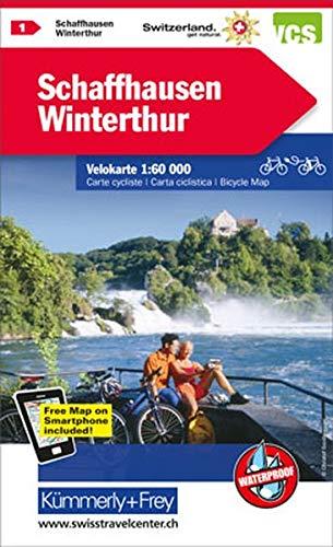 Schaffhausen / Winterthur 1 Cycle Map 2017 por Hallwag Kummerly&Frey