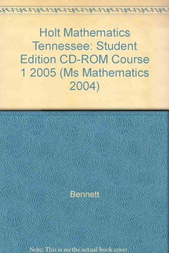 HOLT MATHEMATICS TENNESSEE (Ms Mathematics 2004)
