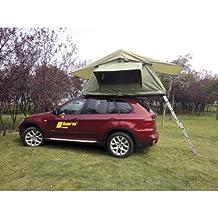 Horntools, tenda da tetto per auto, di colore verde, Trapper Joe