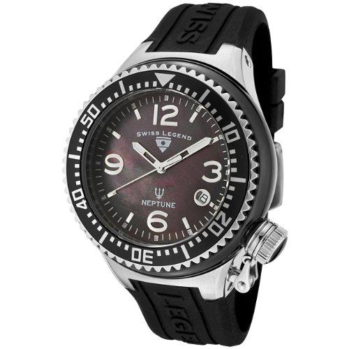 Swiss Legend SL00020/38 - Reloj analógico de cuarzo para hombre, correa de silicona color negro
