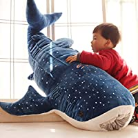 Ukallaite Toy Gift Shark Plush Toy Cute Shark Plush Toy Big Fish Cloth Doll Whale Stuffed Children Birthday Gift Novelty & Gag Toys