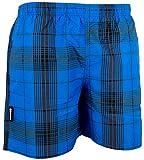 GUGGEN MOUNTAIN Maillot de bain pour homme de materiau high-tech slip shorts checked *Gris Bleu*