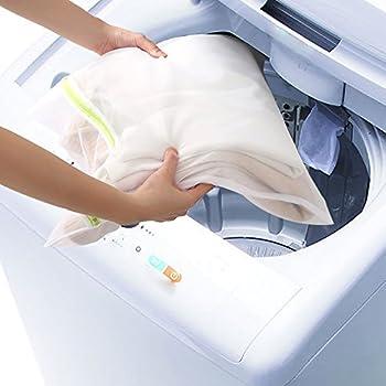 Comsun Wäschenetze Set, Premium Wäschebeutel, Wäschesack, Wäschetasche Mit Reißverschluss, Ideal Für Für Waschmaschine, Wiederverwendbar (Weiß) 2