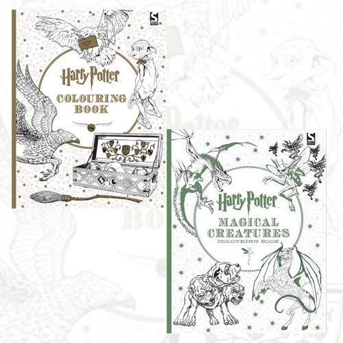 Harry Potter Colouring Book Collection 2 Books Bundle (Harry Potter Magical Creatures Colouring Book,Harry Potter Colouring Book)