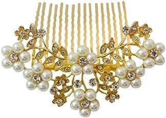 VOGUE Hair Accessories Women's White Pearl Comb Hair Clip