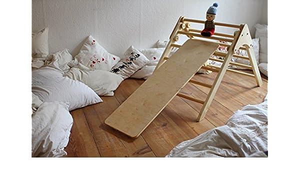Kletterdreieck Rutschbrett : Sprossendreieck rutschbrett amazon baby