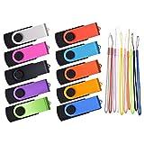 Lot de 100 Flash Drives 16Go Clé USB Masse Portable 16 Go Clef USB 2.0 Métal USB...