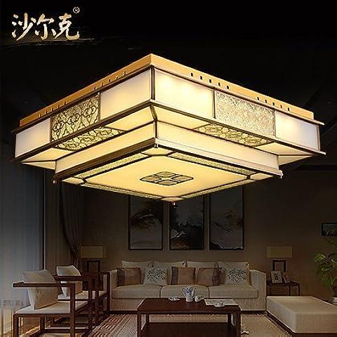 JJ LED moderno lámpara de techo nuevo chino clásico lámparas de bronce se enciende una lámpara de techo en dormitorios estudio de pasillo de iluminación LED de soldadura de fijación 510*510*220mm lámpara