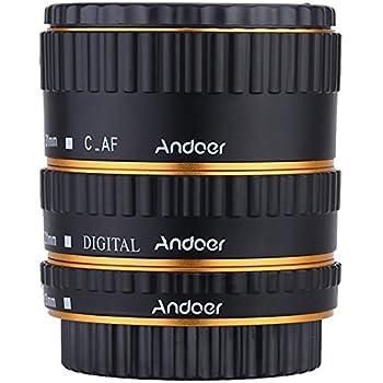 Andoer Coloré Métal TTL autofocus AF Macro Tubes d extension anneau pour  Canon EOS EF d714b490680c