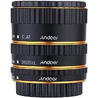 Andoer - Tubo de extensión para Canon EOS EF EF-S 60D 7D 5D II 550D