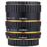 Andoer colorato metallo TTL autofocus AF Macro tubi di estensione Anello per Canon EOS EF, EF-S 60D, 7D, 550D 5D II