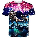 Idgreatim Unisex 3D Printed Short Sleeve T-Shirt Casual Graphic Tees Top