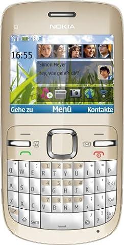 Nokia C3 Smartphone (6.1 cm (2.4 Zoll) Display, Bluetooth, 2 Megapixel Kamera, QWERTZ-Tastatur)