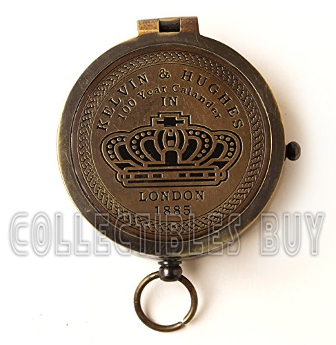 Nautical Kelvin & Hughes 100 Years Calendar Marine Compass Antique Brass Royal Instrument by Collectibles Buy