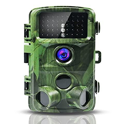 """12MP 1080P Full HD Trail Game Camera,CrazyFire Wildlife Hunting Camera with Infrared Night Vision,130° Wide Angle Detection,2.4"""" LCD Display for Scouting Surveillance,Home Security,Wildlife"""