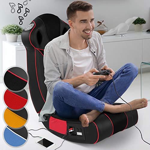 Soundsessel in diversen Farben - aus Kunstleder, zusammenklappbar, mit Lautsprecher, Surround und Subwoofer - Soundchair, Multimediasessel, Musiksessel, Musikstuhl, Gaming Chair,Music, Rocker