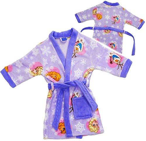 Preisvergleich Produktbild alles-meine.de GmbH Fleece - Frottee _ Bademantel -  Disney die Eiskönigin - Frozen - LILA  - 1 bis 2 Jahre / Gr. 86 - 92 - Microfleece / Microfaser - für Kinder / Jungen & Mäd..