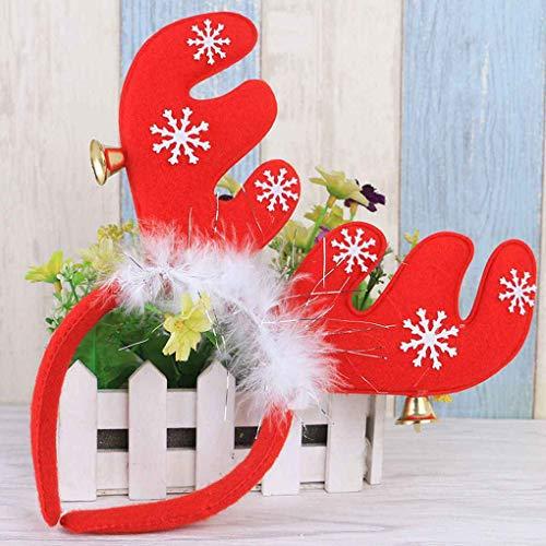 Ruiboury Las Orejas de Navidad Accesorio del Pelo Decoración de Navidad con...