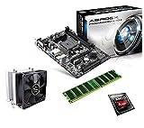 One PC Aufrüstkit   AMD A-Series A8-6600K, 4 x 3.90GHz   Richland   montiertes Aufrüstset   Mainboard: ASRock FM2A88M-HD+   8 GB RAM (1 x 8192 MB DDR3 Speicher 1600 MHz)   CPU Mainboard Bundle   Grafik: AMD Radeon HD 8570D