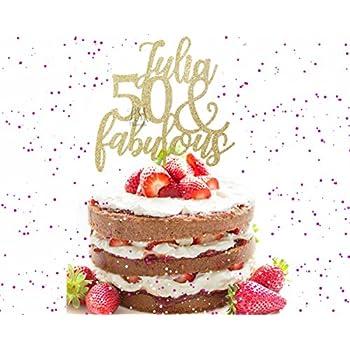 50 Fabulous Custom Wedding Anniversary Birthday Cake Topper