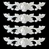 Euro Tische 4-er Set Zierleiste Zierteile Verzierungen Rosen Ornament Antik Möbel Ersatzteile weiß