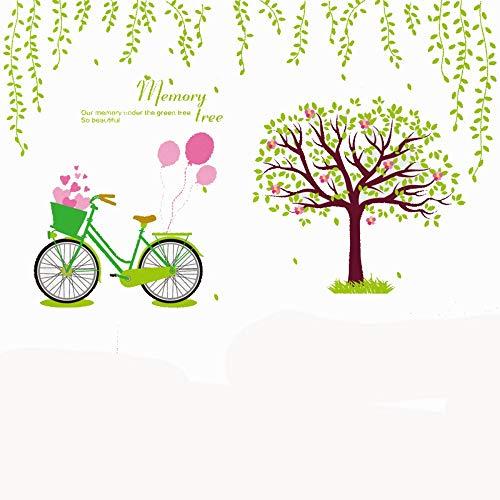 Obanban Dreidimensionale Grüne Plantage 3D Fahrrad Wandtattoo Wanddeko Wohnzimmer Schlafzimmer