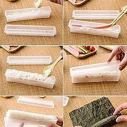 Opfury Sushi Stampo Facile da Preparare, Stampo Fai da Te in Stile Giapponese Stampo Sottile per Sushi, Sushi Giapponese E Panini A Casa con Una Semplice Pressa per Sushi