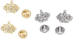B Baosity Spilla Pin con Cristallo Disegno Corona Unicorno per Ballo Festa