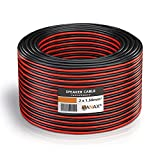 MANAX Lautsprecherkabel 2 x 1,5mm² rot/schwarz 20 m Ring