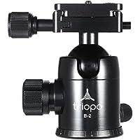 Andoer Triopo B-2cabezal de trípode para 360grados Panorámica Rótula w/integrado doble Esprit niveles & Portaestantes de seguridad para cámara réflex digital max carga 8kg