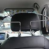 Kitechildhrrd 2 x Autokleiderbügel für kopfstütze Kleiderbügel Reisebügel universell passend Auto Kleiderbügel