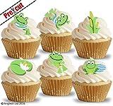 vorgeschnittenen niedliche Frösche essbarem Reispapier/Waffel Papier Cupcake Kuchen Dessert Topper Geburtstag Party Dekorationen