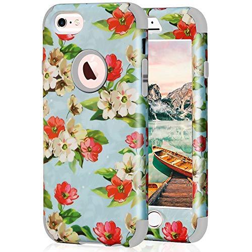 iPhone 6Hülle, iPhone 6S Schutzhülle, sumoon Drei Layer Einzigartiges Design Hybrid Heavy Duty High Impact Resistant Silikon stoßfest Schutzhülle Case für Apple iPhone 6/6S 11,9cm, Grau - 6 Iphone Ersatz-bildschirm-pink