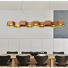ZMH LED Pendelleuchte Hngelampe Pendellampe Aus Holz Hngeleuchte Deckenleuchte Fr Bro Bar Restaurant Esstisch Wohnzimmer