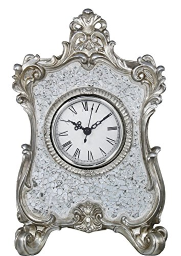 27cm Lille Silver Mosaic Table Clock
